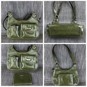 Green Purse plus Matching Wallet